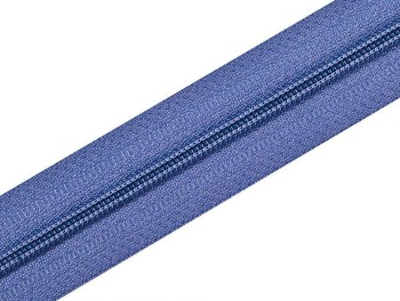 Nylon Zipper Long Chain Blue