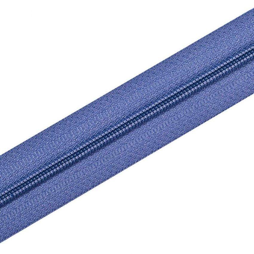Nylon Zipper Long Chain Blue