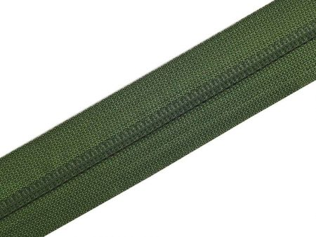 Nylon Zipper Long Chain Green