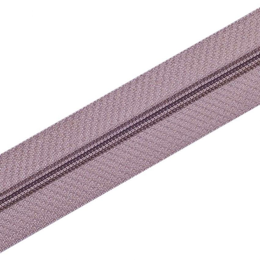Nylon Zipper Long Chain Light Brown