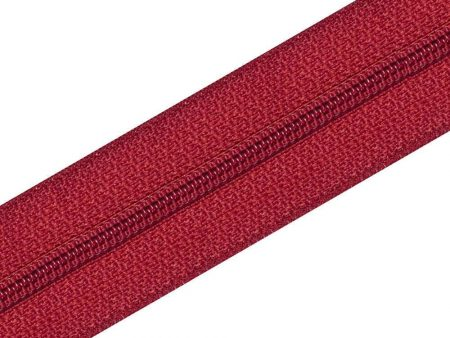 Nylon Zipper Long Chain Red