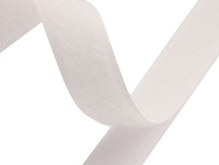 Velcro Sew On Loop Tape 30mm White