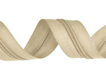 Dilotex Ecru Nylon Zipper Chain