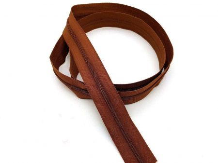 Dilotex Brown Nylon Zipper Chain