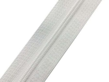 Dilotex White Nylon Zipper Chain